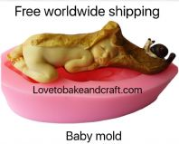 Elf mold, Pixie mold, Fairy mold, Fondant fairy, Sugarpaste fairy , Free worldwide shipping. (1) (2)